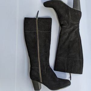 Cole haan Grand.os 7B black zip up boots